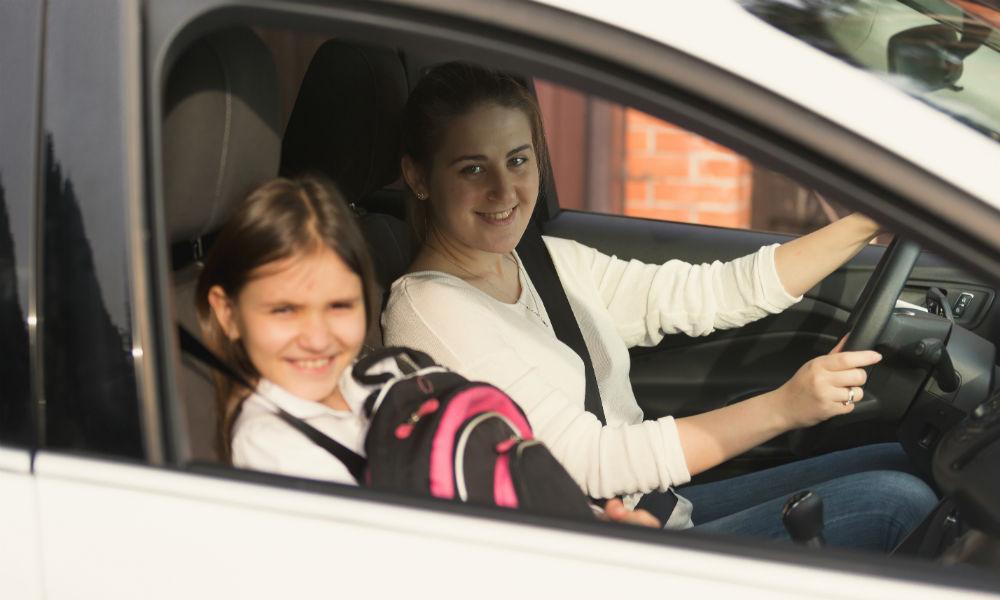Riesgos de manejar con niños